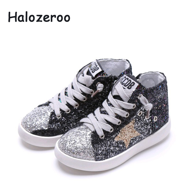 Shoe Toddler Casual Shoes Black Fashion Sport Boy 45Off Sneakers Autumn Top 8 In Sequin Star Girl Trainer Us24 Baby children Soft High CxrBedoW