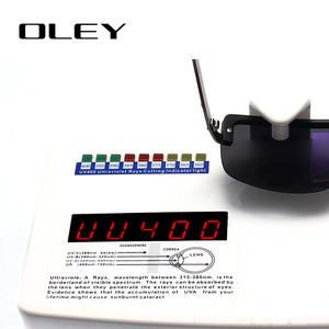 Image 5 - OLEY Fashion Mens Frameless Polarized Sunglasses Classic Pilot Goggles  UV400 Gafas De Sol  Y4909 Support custom LOGO