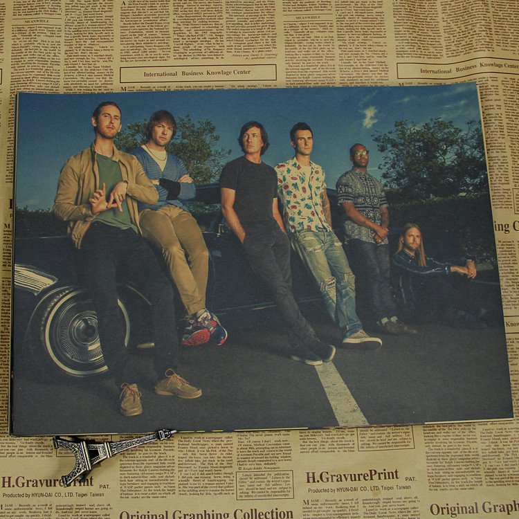 Maroon 5 magic Adam Levine what poster of euramerican and Adam to Noah levin band vintage poster indoor decorative wall stickers