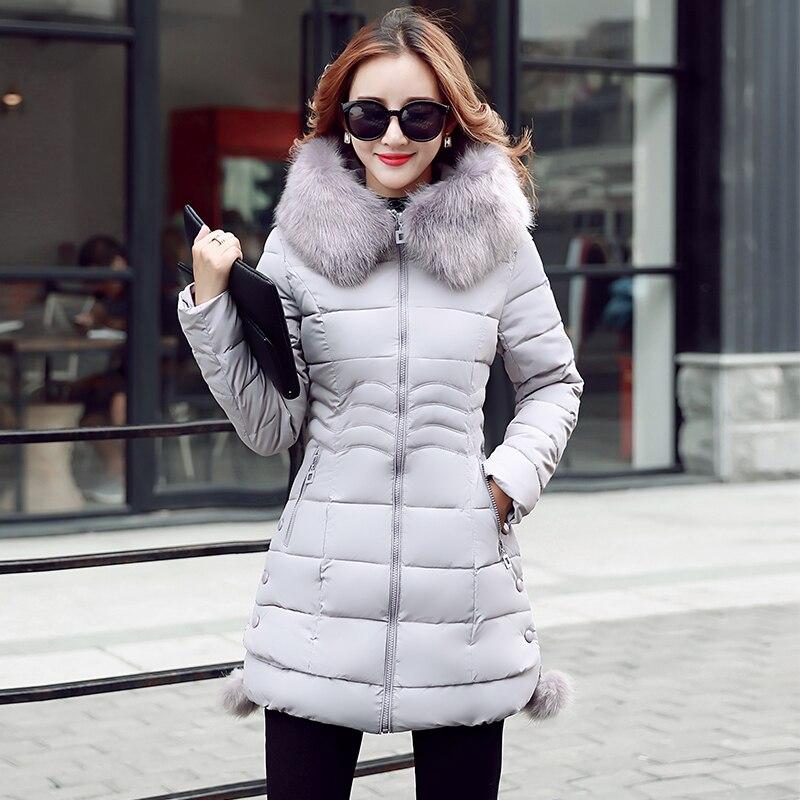 gris Ciel La De Slim Noir Fourrure À Version Coréenne Parkas Col rouge Invierno Coton En Manteaux 3xl D'hiver Femmes Femelle M pu 2018 Capuchon Mode Vestes rose fg0SWx