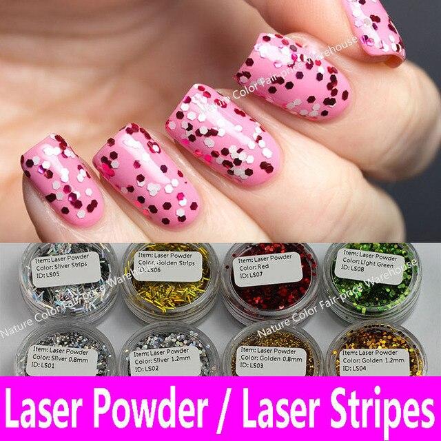 Laser Pailletten Hexagon Glitter Poeder Nail Art Decoratie Pvc