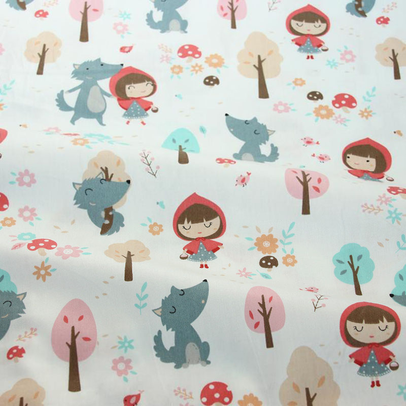 2PCS 50 40cm Cute Animal Cotton Twill Printed Fabric Kids Cotton Cloth for DIY Sewing Quilting Material For Baby in Fabric from Home Garden