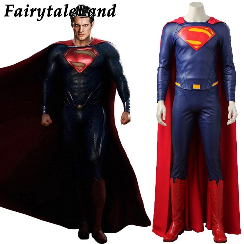 2017 film Justice League Superman cosplay Kostüme Superhero Halloween kostüme Nach maß Cosplay Superheld Superman kostüm