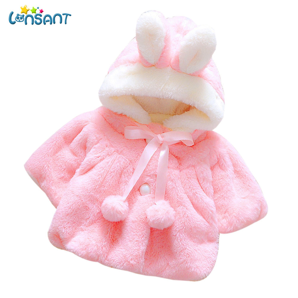 Outerwear & Coats Rational Lonsant Winter Baby Girl Coats Autumn Baby Girls Solid Faux Fur Fleece Hooded Cloak Cape Kids Infant Princess Party Jacket