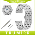 20mm 22mm Quick Release Stainless Steel Watch Band for Cartier Tank Santos Ronde Solo Butterfly Buckle Wrist Strap Link Bracelet
