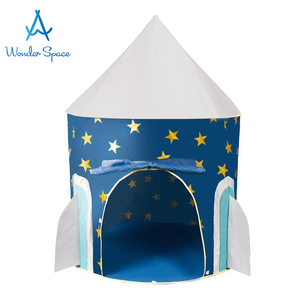 on sale 125fe ec9ea US $29.99 |Children Play Tent Space Rocket Castle Kids Foldable Pop Up  Playhouse Best Indoor Outdoor House Toy Boys Girls Baby Toddler Gift-in Toy  ...