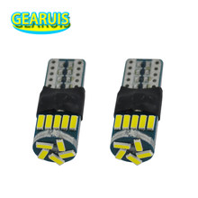 10X 12V a 24V T10 W5W LED 4014 15 SMD luz interior no polar marcador lámpara 194 501 cuña de bombilla luz superior de estacionamiento estilo de coche