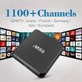 M8S Amlogic S812 Android 4.4 Smart TV Box com Qhdtv Conta Iptv Esporte arábica Canal Quad Core 2 GB RAM 8 GB ROM IPTV Set Top caixa