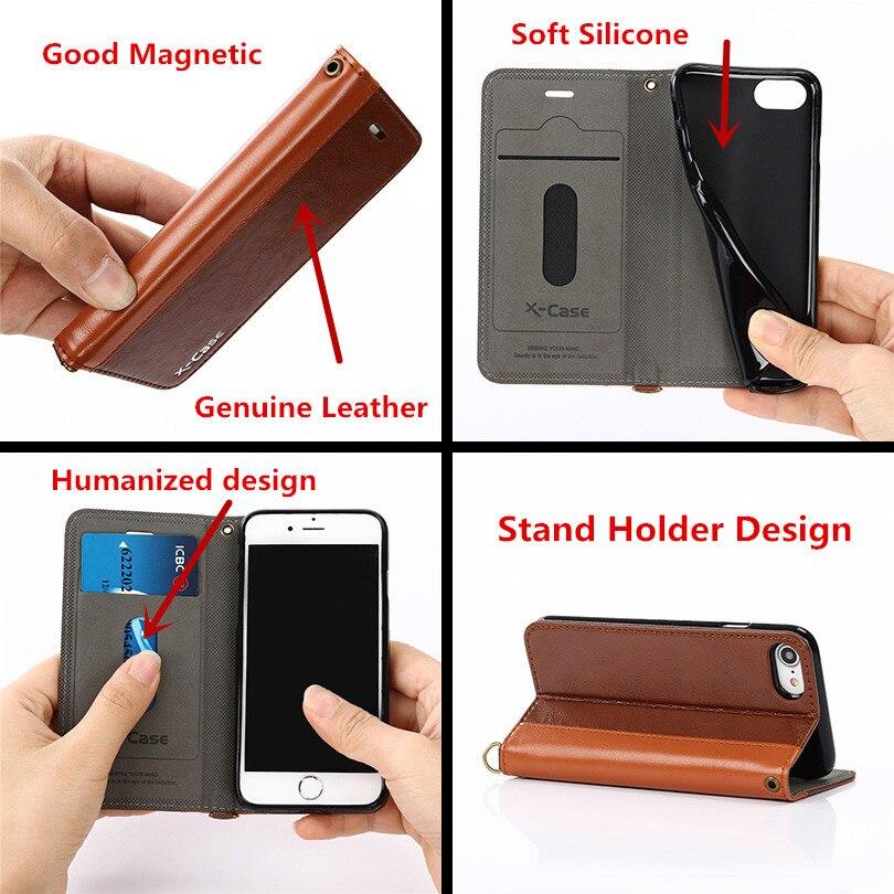 Para Funda iPhone 8 7 6 Plus 5 Funda de cuero con tapa de cuero - Accesorios y repuestos para celulares - foto 2