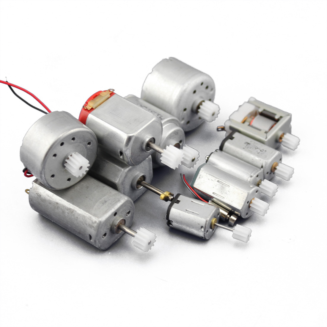 JMT Motor Gear Package 12pcs In Total DIY Model Accessories Technology Small Production Materials Micro-DC Small Motor F19220 precision dc motor 12mm micro all metal gear motor diy