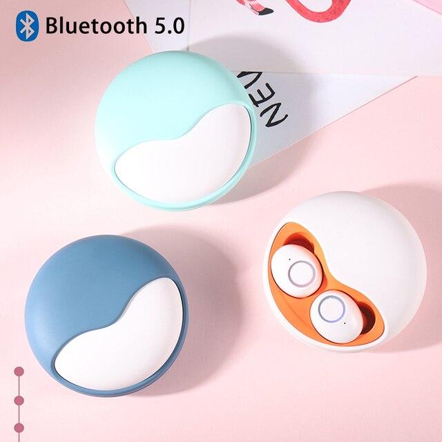 Fone de ouvido sem fio bluetooth 5.0 tws 3d estéreo fones de ouvido som auto conectar mãos livres chamada telefone mini baixo