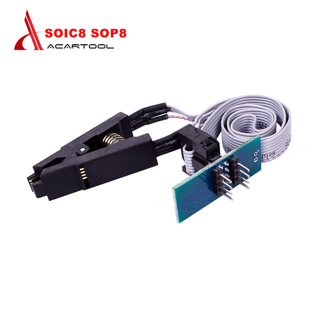 Best Quality 8 pin SOIC8 SOP8 DIP8 Flash Chip IC Test Clips Socket Adpter BIOS/24/25/93 Programmer