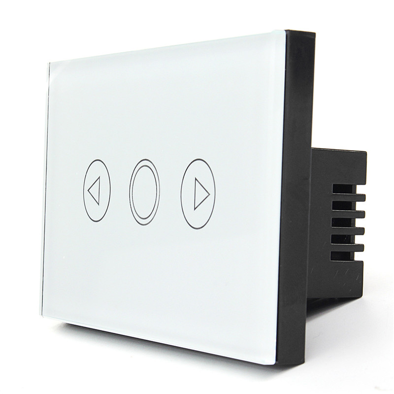 1 Gang Home Light Lamp LED Touch Sensor Remote Control Dimmer White Crystal Panel Wall Smart Switch US Popular smart home us au wall touch switch white crystal glass panel 1 gang 1 way power light wall touch switch used for led waterproof