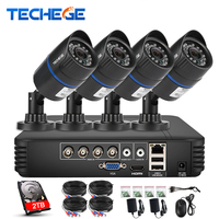 Techege 4CH CCTV System 720P HDMI AHD CCTV DVR 1 0 MP IR Waterproof Outdoor Security