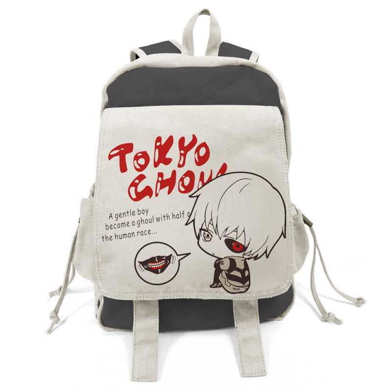 Anime tokyo ghoul Cosplay Male and female students campus backpack casual fashion large capacity backpack child birthday gift anime tokyo ghoul cosplay anime shoulder bag male and female middle school student travel leisure backpack page 8