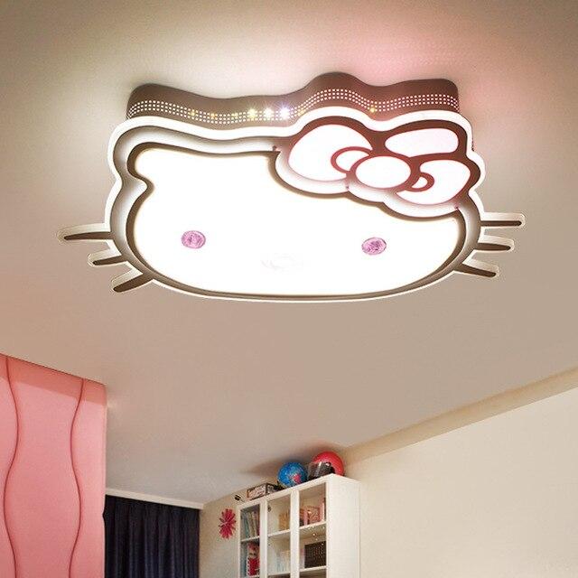 US $198.0  HAIXIANG Cartoon Decke Lichter Hallo Kitty Augenschutz LED  Mädchen Schlafzimmer Kinderzimmer Lampe Dimmen Fernbedienung Lampe in  HAIXIANG ...