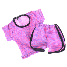 Two piece Suit for 18 inch American Girl Dolls Accessories Sportswear T shirt Pants Our Generation