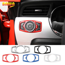 HANGUP 5 Color ABS Car Head Light Lamp Switch Button Decoration Cover Trim Stickers For Ford Mustang/F150 2015 Up Car Styling hangup aluminum car door audio speaker net decoration cover trim stickers for chevrolet camaro 2017 up car styling