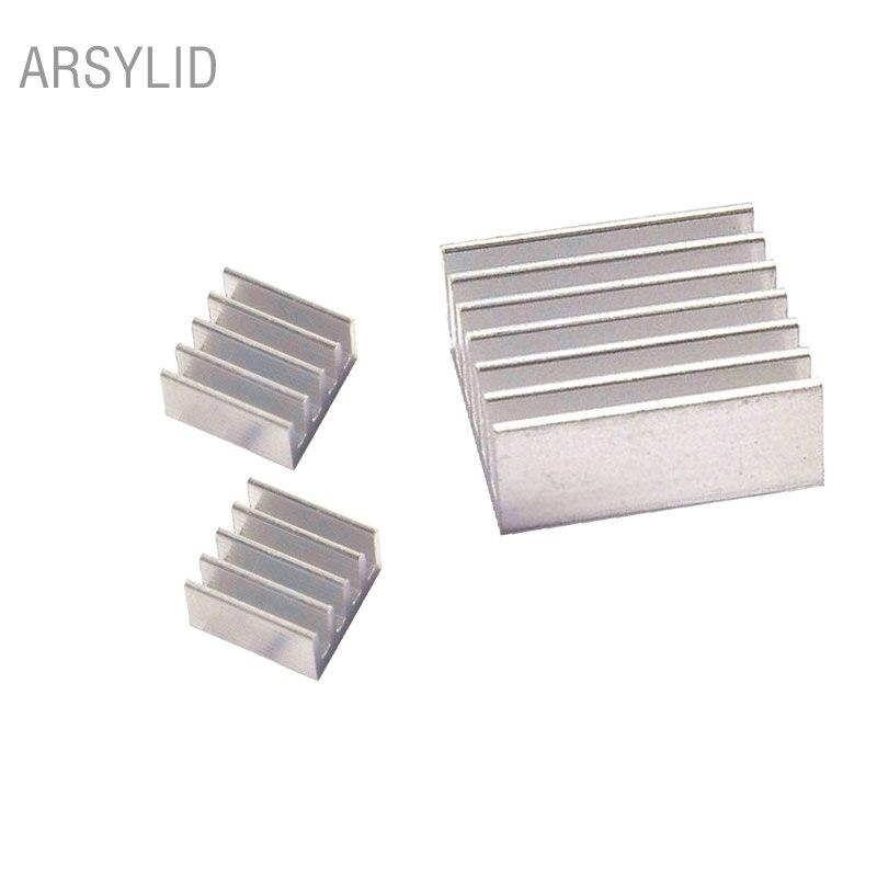 3pcs, 1set, heatsink for Raspberry Pi Model B+ 2, 14x14x6mm, 11x11x5mm, Extruded Aluminum heatsink, IC Chip VGA Memory radiator yokatta model 19 6 5x16 5x114 3 et40 d66 1 w b