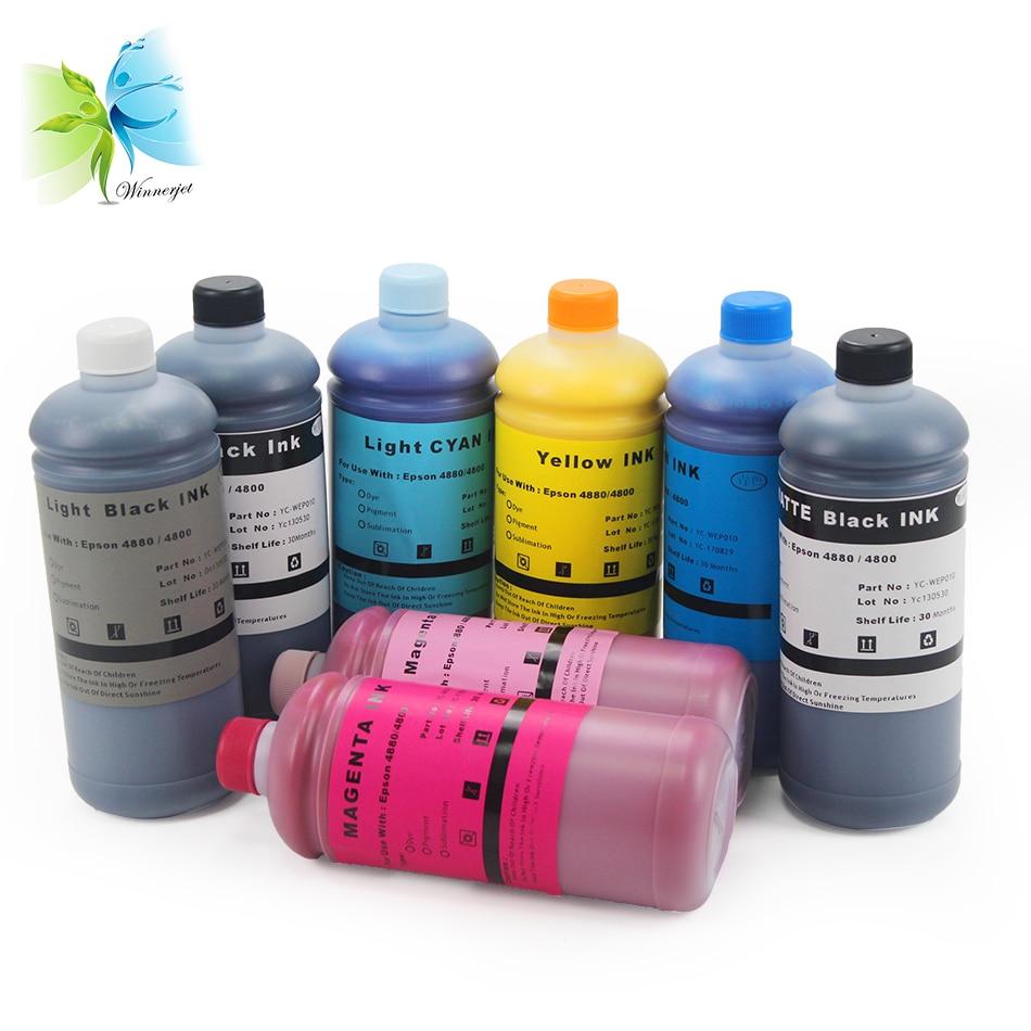 Winnerjet dye ink for Epson Stylus Pro 4800 4880 printer 1000ml/bottle with 8 colors
