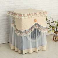 floral Style lace Washing Machine Cover 60*60*85cm Dust proof protector Washing machine protective cover