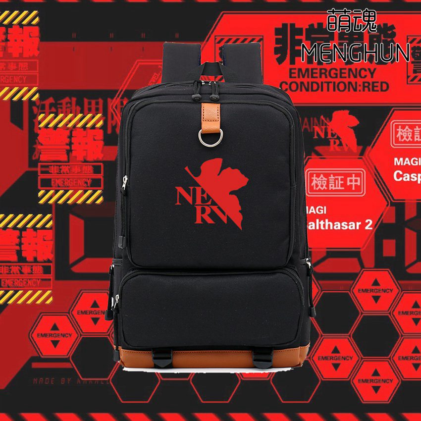 NEON GENESIS EVANGELION BACKPACKS big school bag for eva fans EVA anime props NERV logo printing backpacks NB193 genesis genesis turn it on again the hits