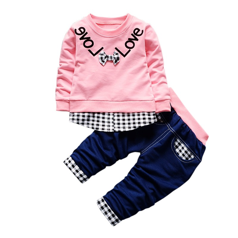 Autumn Baby Boy Clothes Set Children Clothing Sets Products Kids Clothes Baby Boys Girls T-shirts+Pants 2PCS Tracksuit sx1