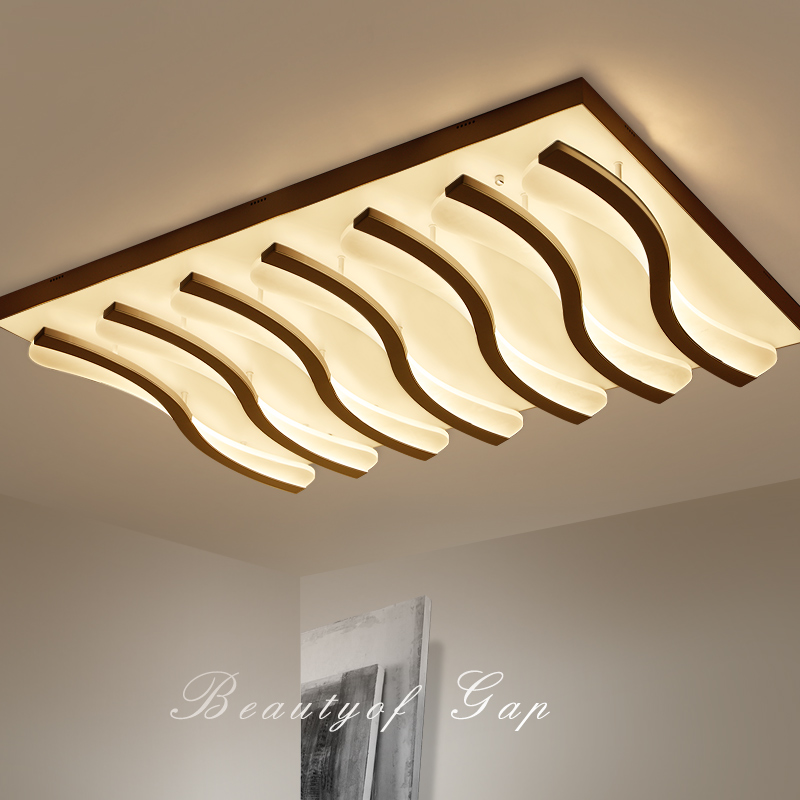 LED living room ceiling lamps simple postmodern rectangular ceiling lights creative bedroom fixtures restaurant ceiling lighting skyway eco
