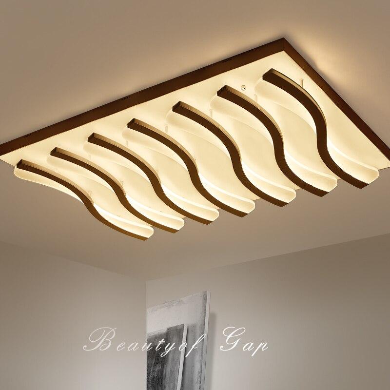 LED living room ceiling lamps simple postmodern rectangular ceiling lights creative bedroom fixtures restaurant ceiling lighting