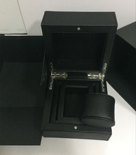 Top Quanlity Leather Brand Watch Box Black Square Watch Gift With Pillow Fashion Watch Storage Boxes