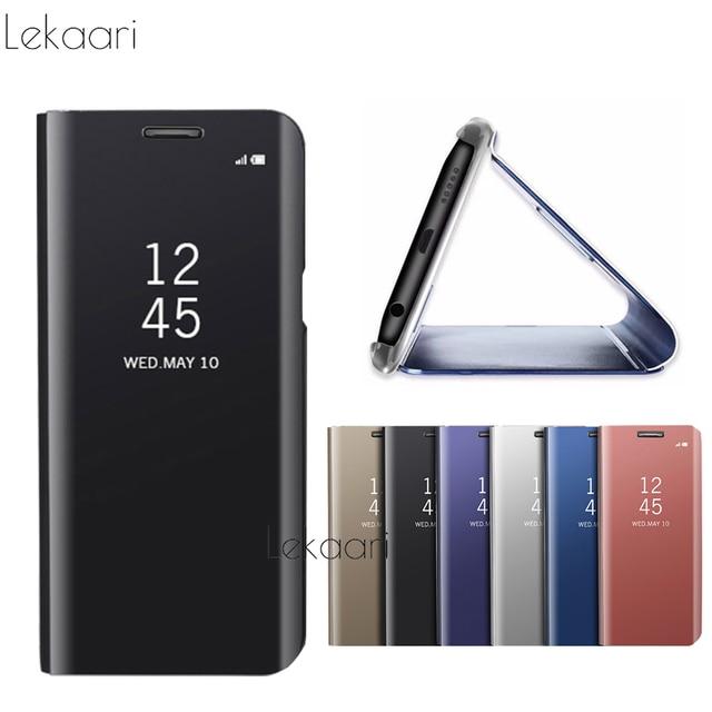 new style 898e5 0fae2 US $4.98 |Xiaomi Redmi Note 5 Pro Case Global Version Smart Clear Mirror  View Flip Case Xiomi Redmi Note 5Pro 5.99inch Phone Cases Funda-in Flip  Cases ...