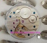 Parnis 17 bijoux mécanique 6497 à remontage manuel montre de Mouvements fit pour Hommes jx01a