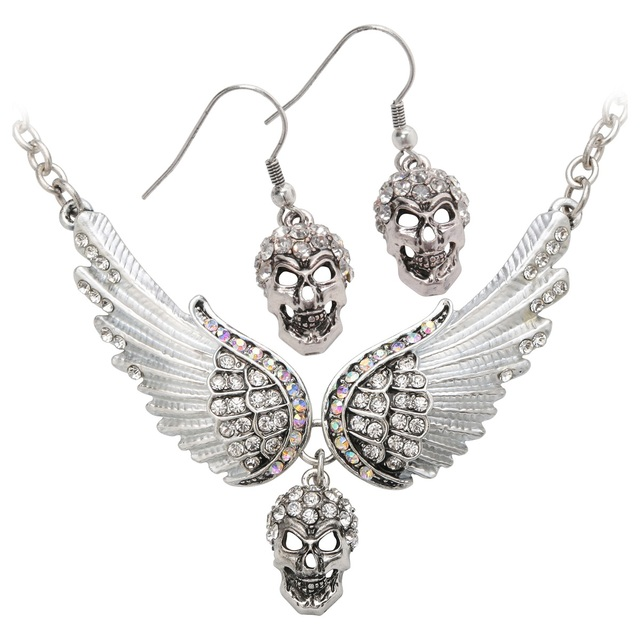 YACQ Angel Wings Skull...