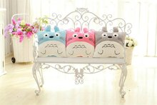 Cartoon Totoro Pillow Cushion and Blanket Blue Pink Totoro Plush Cartoon Stuffed Cushion Pillow Birthday Gift for Girls Children