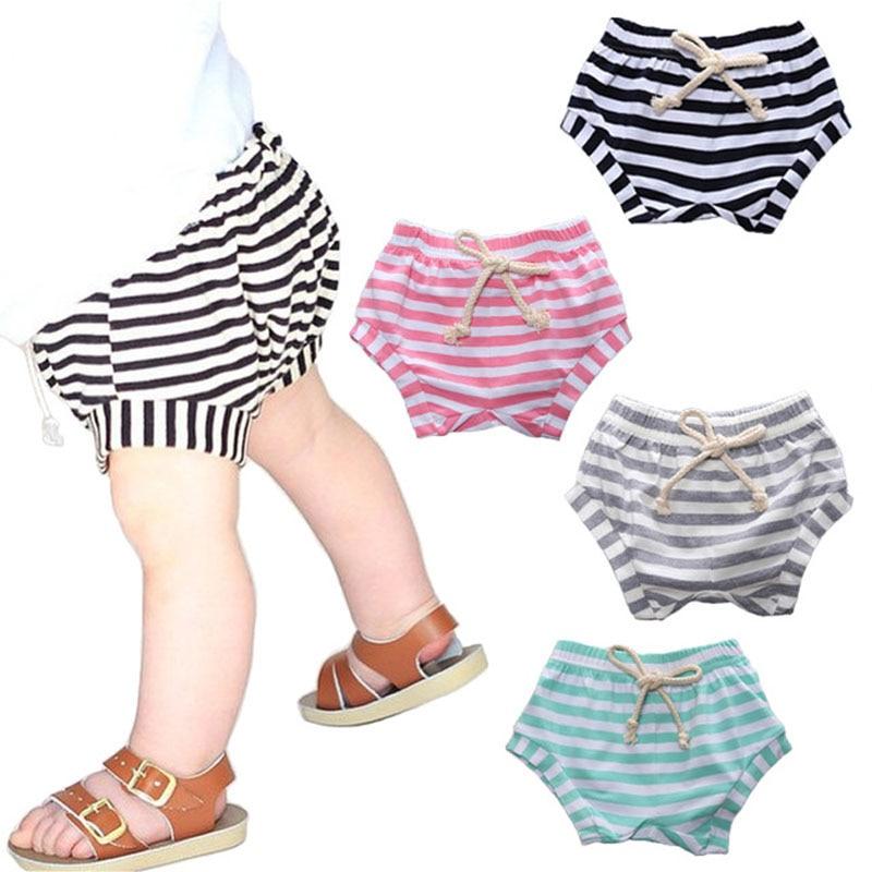 0-3 Jaar Oud Zomer Streep Baby Shorts Katoen Baby Jongen En Meisje Broek Leisure Tij Pp Broek
