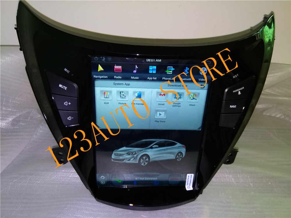 10 4 '' Vertical screen Tesla Style Android 7 1 Car DVD GPS Player radio  navigation for hyundai elantra 2011 2012 2013