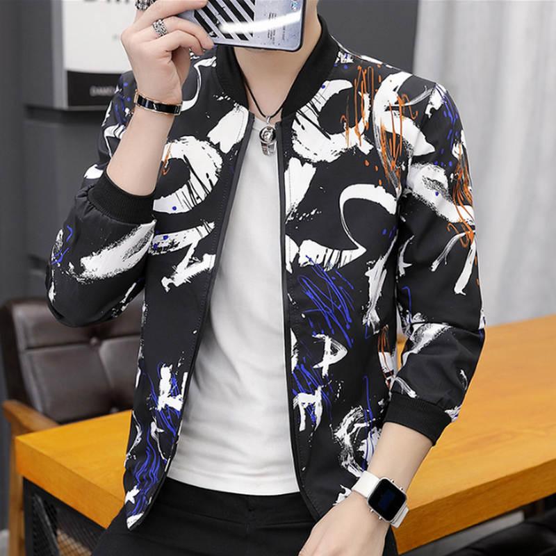 Printing Fashion 2019 Brand Mens Bomber Jacket Thin Men Baseball Jackets Casual Jacket Coat Overcoat For Printing Fashion 2019 Brand Mens Bomber Jacket Thin Men Baseball Jackets Casual Jacket Coat Overcoat For Male Clothing
