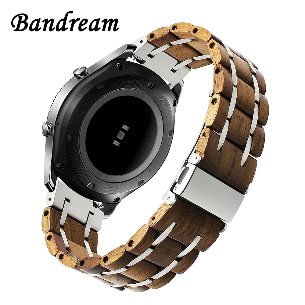 Nature Wood Stainless Steel Watchband 20mm 22mm for Orient Jacques Lemans Frederique Constant Watch Band Quick