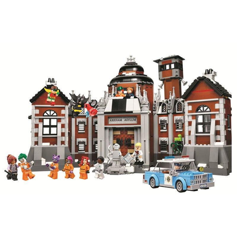 Batman films DC Comics Arkham asile 10741 Bela Compatible Legoe Super héros blocs de construction briques jouets Marvel ville cadeaux