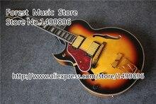 China Custom Shop Linkshänder Archtop Jazz Gitarre Mit Florentine Stil Cutaway & Die Byrdland Vertreten