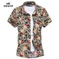 2016 Summer Fashion Mens Short Sleeve Hawaiian Beach Printed Shirt Casual Floral Shirts For Men Plus Size M-6XL/7XL,YK UNCLE