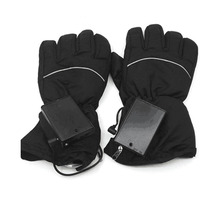 2018 New Waterproof Heated Gloves Battery Powered For Motorcycle Hunting Riding Skiing Gloves Winter Warmer Black
