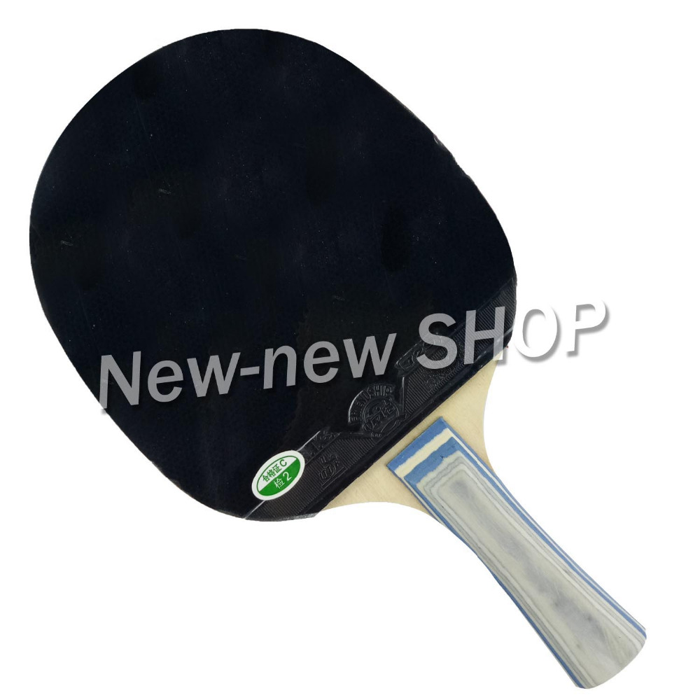 729 1060# Pips-In Table Tennis Ping Pong Racket + A Paddle Bag Shakehand Long Handle FL