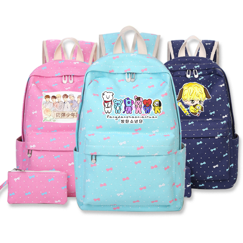Bangtan Boys BTS Rap Monste Canvas bag Rucksacks backpack Girls women Student School travel bags for School Teenage Girls canvas backpack women for teenage boys school backpack male