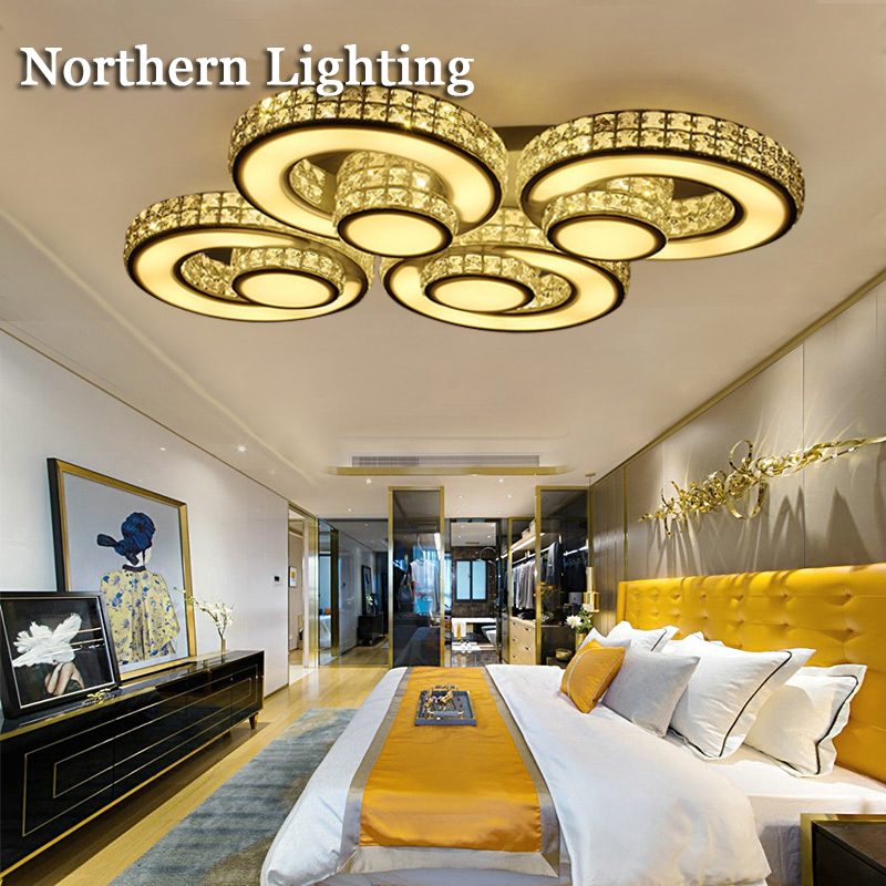 modern crystal ceiling lights plafonnier lamparas de techo ceiling lamp child flush mount bedroom livingroom light fittings