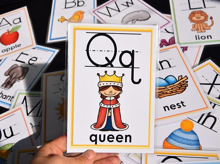animais cartões de palavra cedo brinquedos educativos