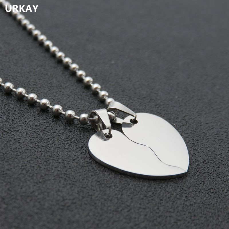 Uraky Jewelry Stainless Steel Love Heart Necklace Pendant