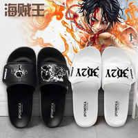 Anime imprimé maison pantoufles une pièce Luffy Chopper ace Cosplay hommes/femmes appartements amoureux décontracté été chaussures antidérapantes unisexe