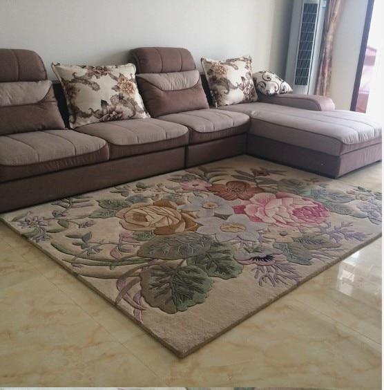 Handmade Blending Wool Carpet Living Room Carpets Table Mats Sofa Fashion American Style