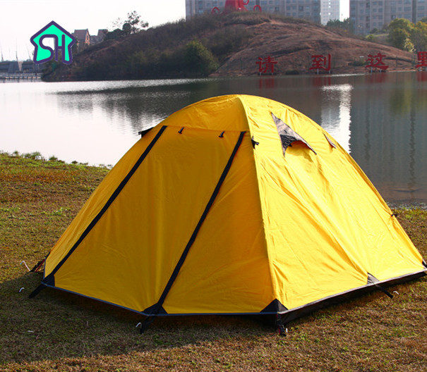 StarHome Camping Tent Waterproof Aluminum Pole Lightweight Beach Tent 3 Person Family Tent Double Layers Ultralight Tent 2.8kg outdoor waterproof folding ultralight camping tent 1 2 person double door fishing tourist tent beach tent hiking family tent